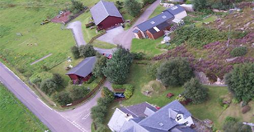 Aerial view of Ach na skia Croft
