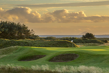 3 nights B&B, 1 evening meal and 3 rounds of golf including Western Gailes, Dundonald Links & Gailes Links. From £360 pp sharing