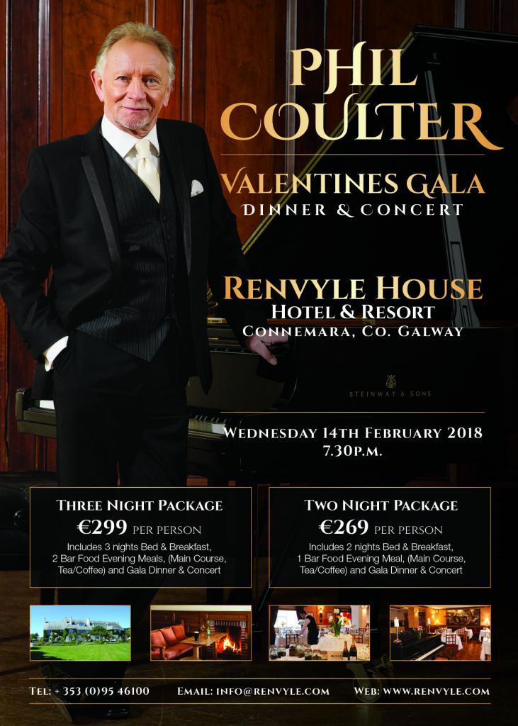 Phil Coulter Valentine's Gala Dinner & Concert