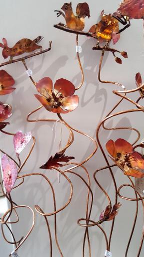 Quirky copper sculpture by Lynne Schroder, Callander