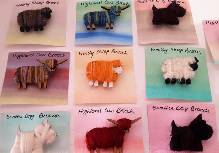 Woolly Scottish sheep at Creative In Callander, The Trossachs