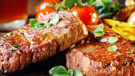 Celebrate the start of the weekend with this fabulous value steak deal for two. Enjoy two 10oz ribeye steak meals cooked to your taste served with hand cut fries, grilled tomato, mushrooms, onion rings and a choice of sauce. Also includes a glass of wine or a beer per person. From 5 pm - last orders 9pm Book early to secure your table, book online or call T 01292 541909