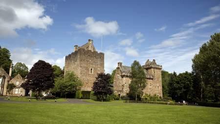 Castle in a garden setting