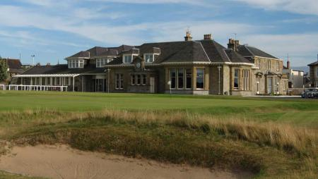Prestwick golf course looking over to the clubhouse