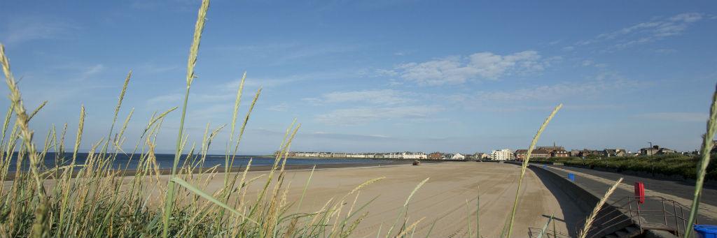 Sandy beach at Troon