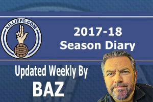 Baz's weekly 2017-18 diary.