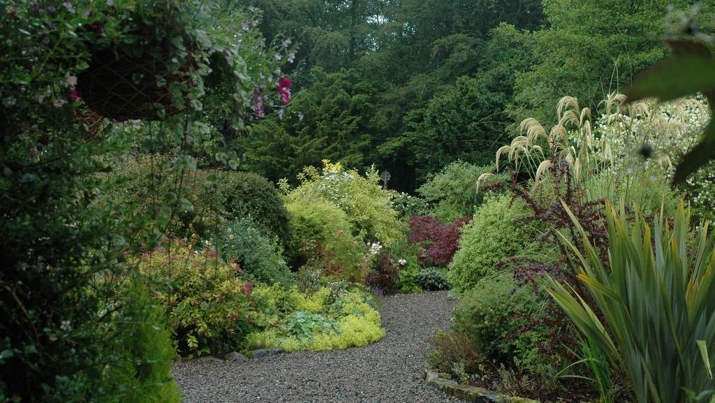 Gardens at The School House near Jedburgh