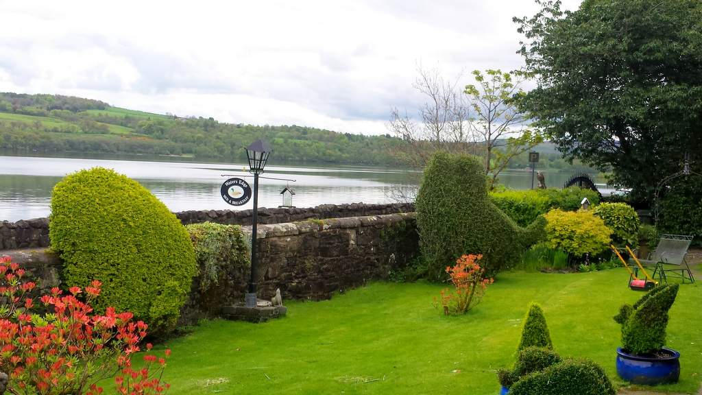 Garden and Views at Waters Edge Cottage on Loch Lomond