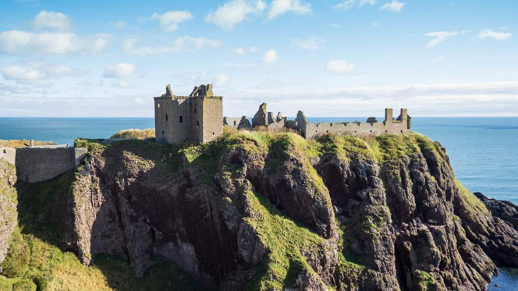 Dunnottar Castle - Photo by Duntrune House near Dundee