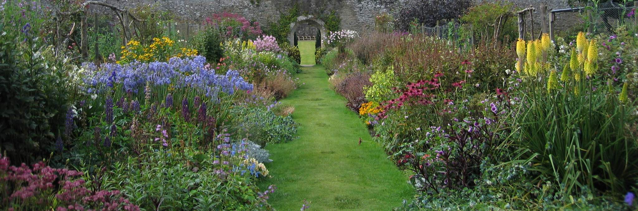 Abbotsford House gardens in The Scottish Borders