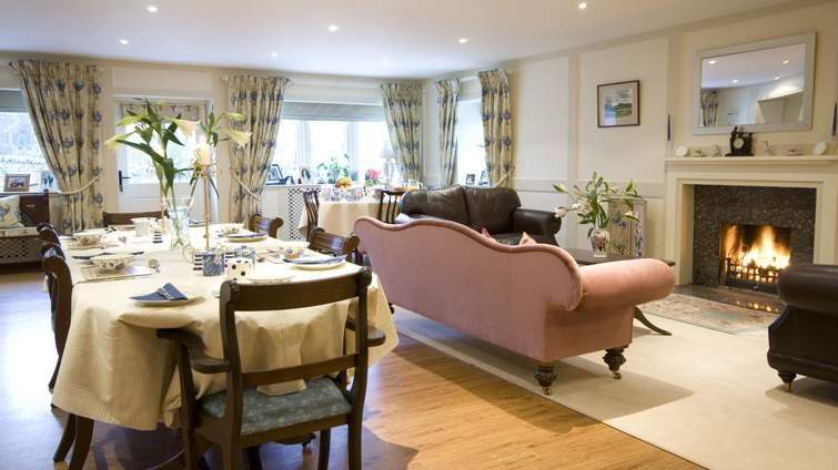 Guest Lounge at Mill House near Kelso