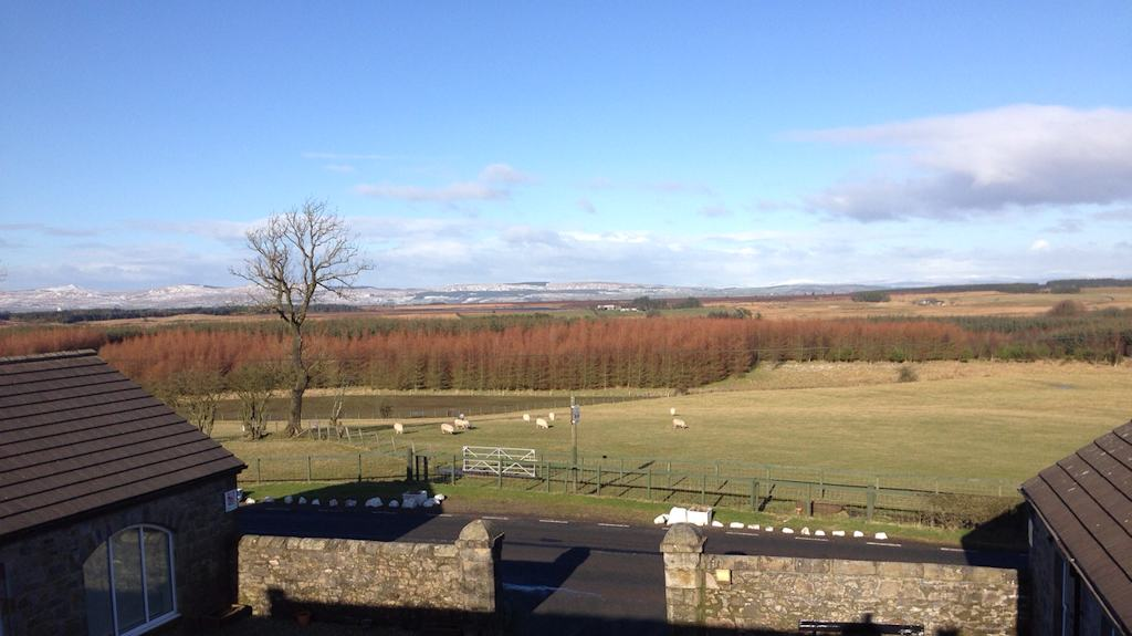 View from Easter Glentore Farm B&B near Airdrie