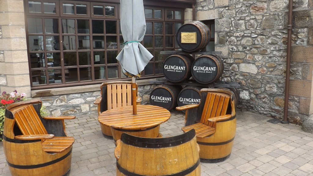 Whisky Barrel Seating - Photo by Castleview B&B, Dufftown