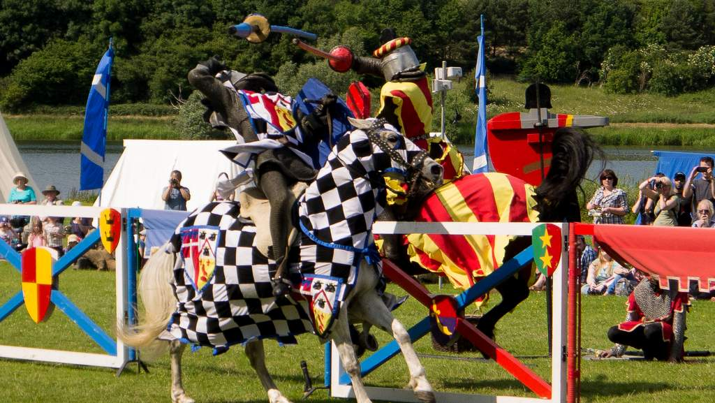 Jousting at Linlithgow Palace near Arden Country House