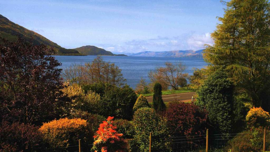 View from Highland View B&B of Loch Linnhe