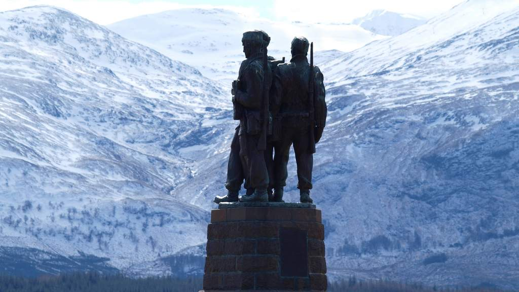 Commando Memorial and Aonach Mor