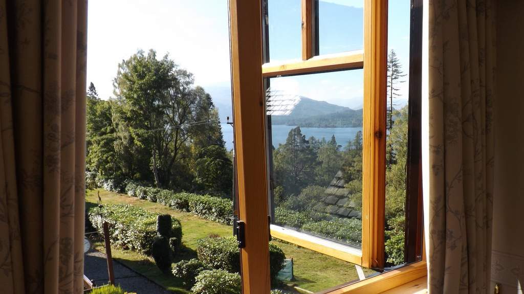 VIew from guest bedroom at The Heathers