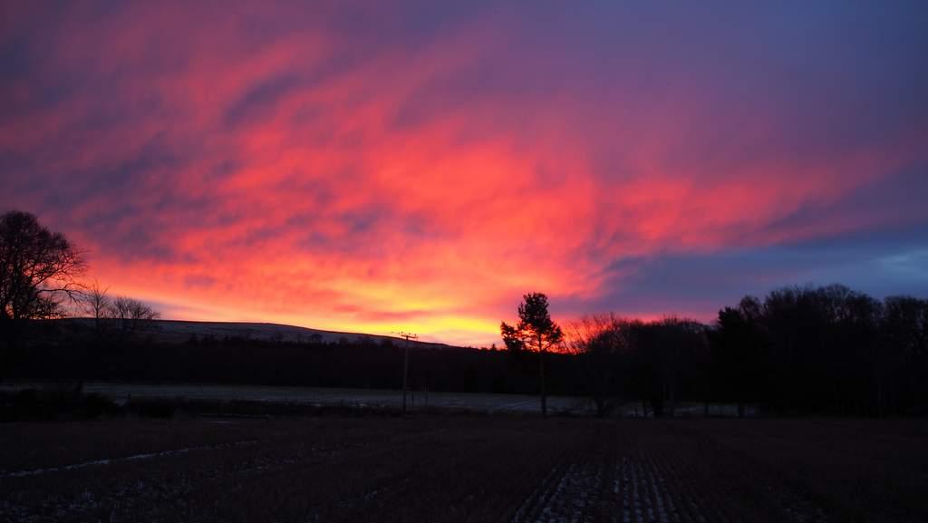 Sunrise at Factors House B&B, Cromarty