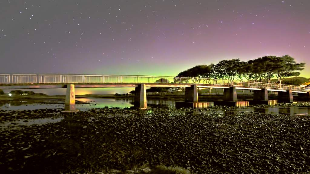 Northern Lights from Coghill Bridge, Wick