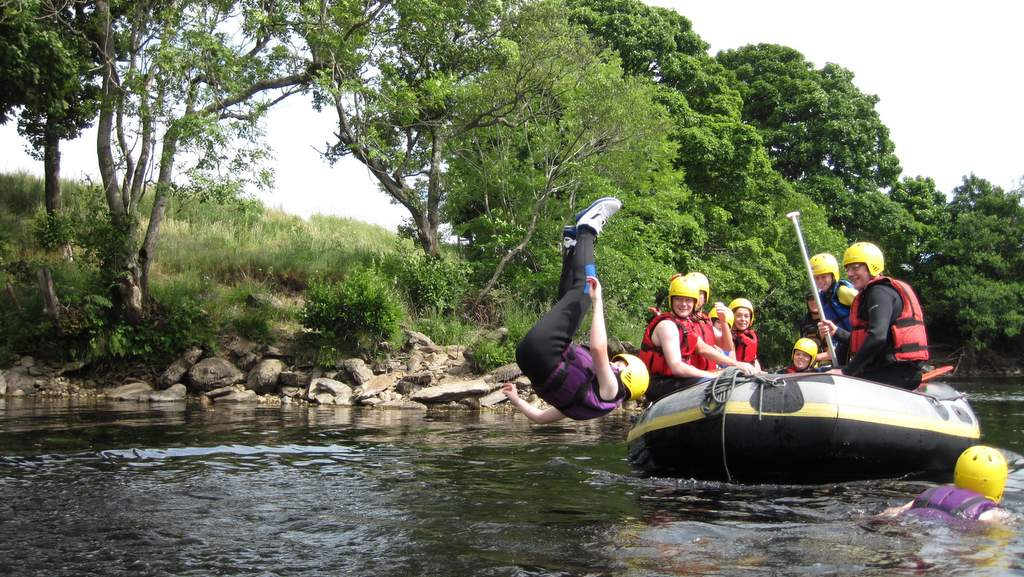 Rafting on The River Tay