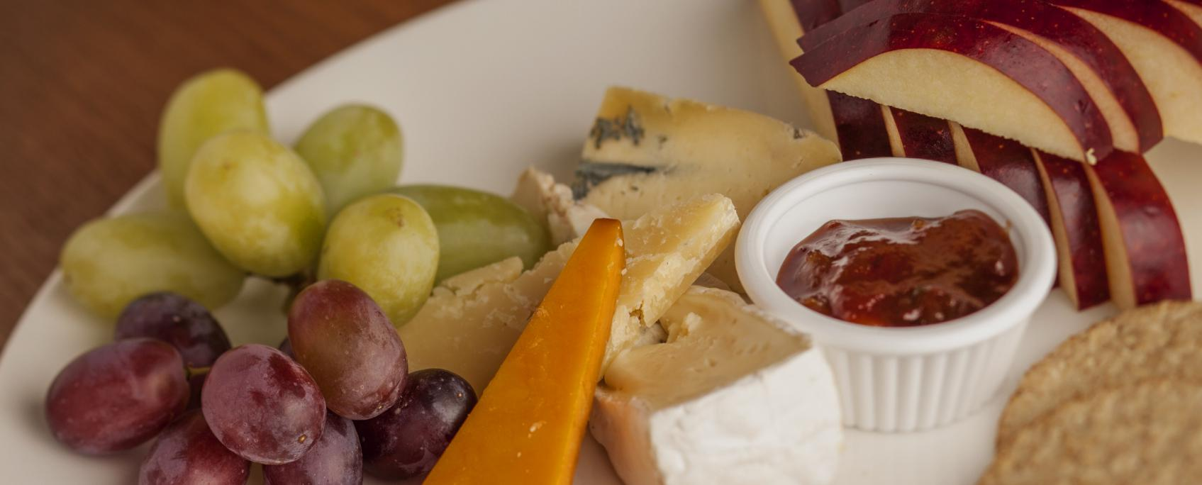 A delicious selection of Scottish cheeses at the Crown Hotel, Callander