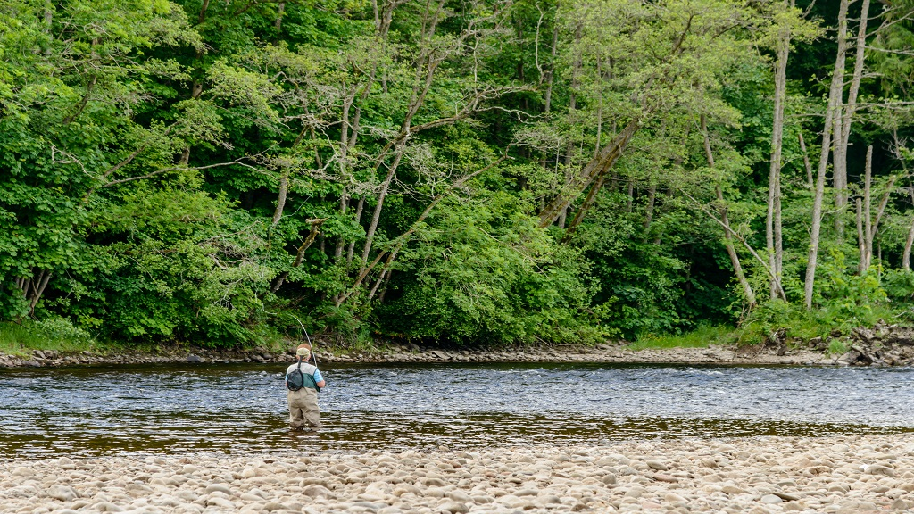 Relaxing fishing near Callander, Scotland