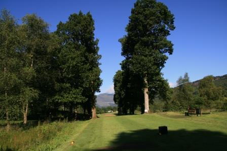 A challenging tee shot at Callander golf club