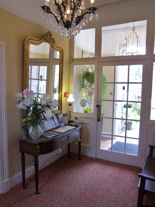 The reception area at Annfield Guest House, Callander