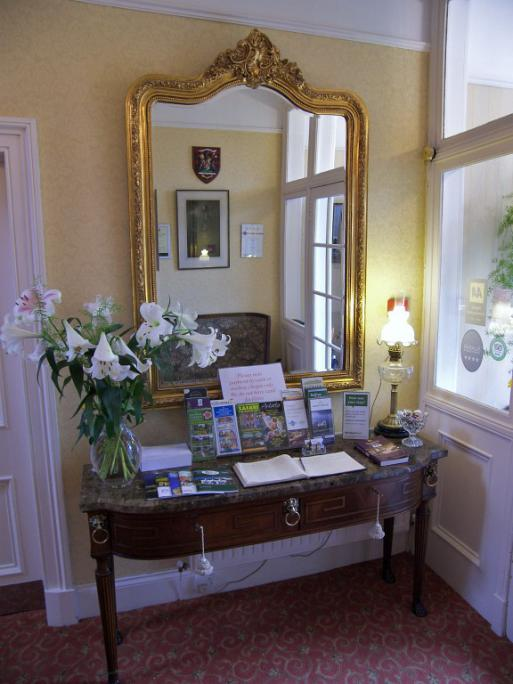 Reception at Annfield Guest House, Callander
