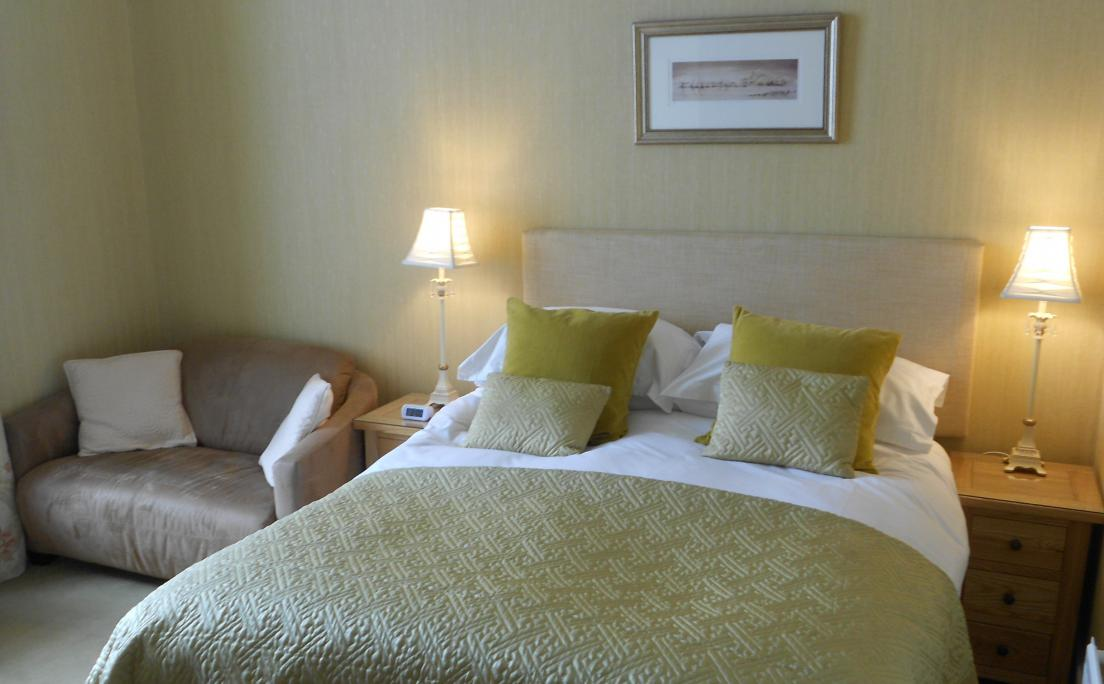 Comfortable bed at Annfield Guest House, Callander