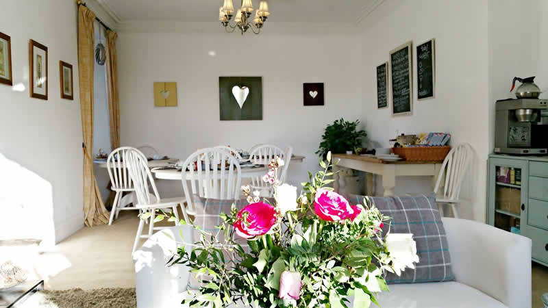 Our bright and airy breakfast room at Westcot B&B, Callander
