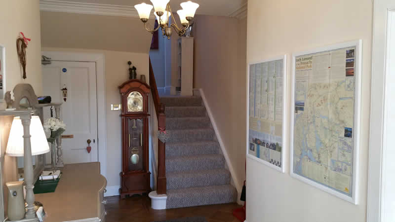The entrance hall at Westcot bed and breakfast in Callander