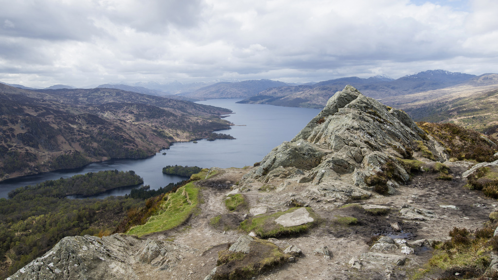 Loch Katrine from the summit of Ben A'an near Callander