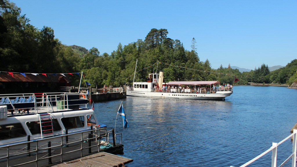 Loch Katrine and Steam Ship Sir Walter Scott