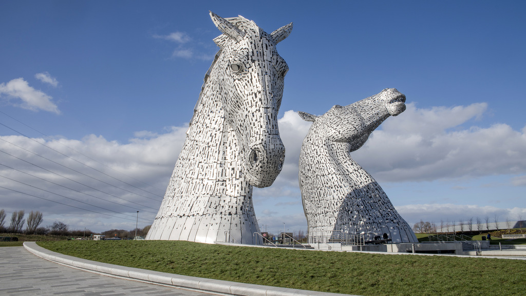 The Kelpies near Callander- awe inspiring sculpture