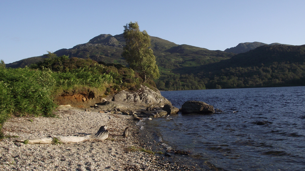 Breathtaking scenery at Loch Katrine near Callander, Perthshire