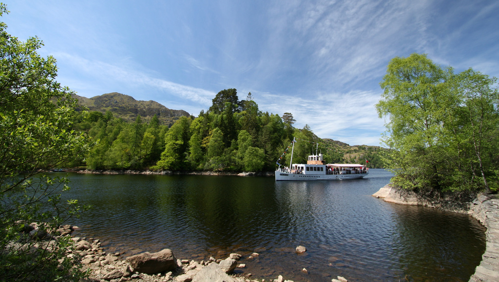 Majestic scenery at Loch Katrine, The Trossachs, close to Callander