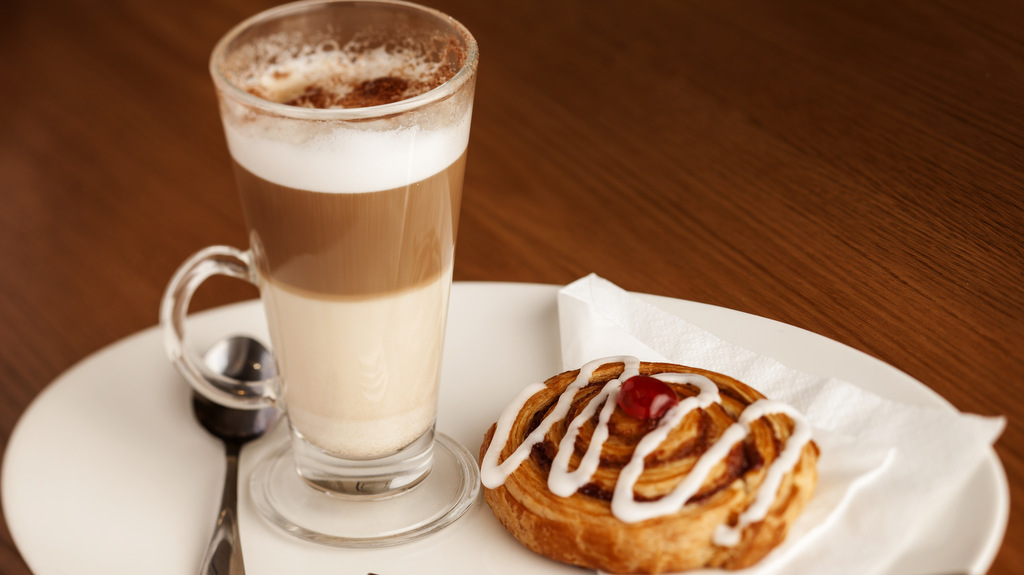 Enjoy a morning coffee and pastry at the Crown Hotel in Callander, Scotland