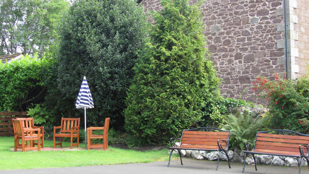 Relax in the garden at Glengarry Guest House, Callander, Scotland