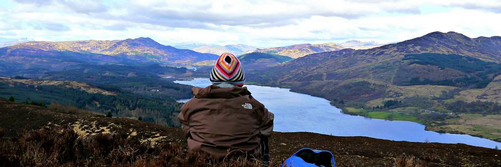 The view from Ben Gullipen near Callander by Pauline Deas