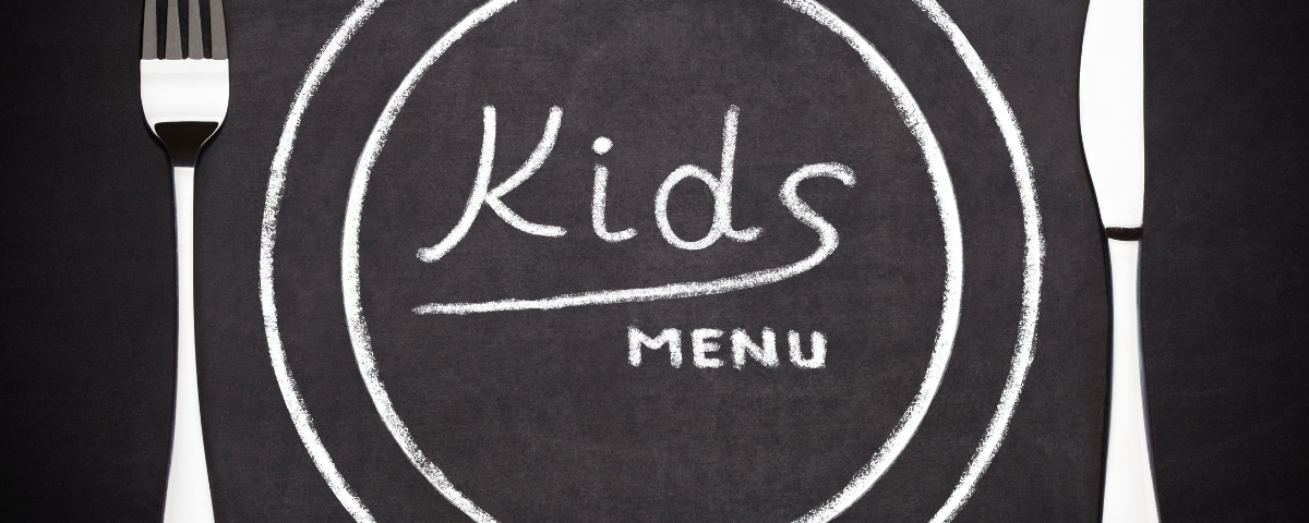 A selection of dishes selected with our little diners in mind.
