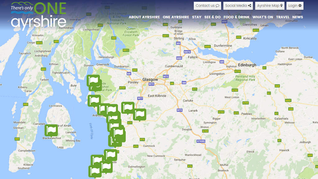 Ayrshire Golf Map | Directions and more