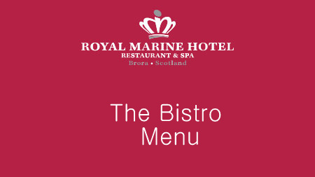 ​The Bistro offers a relaxed dining experience with dishes full of flavour made with locally sourced ingredients and is open between 6pm and 9pm.