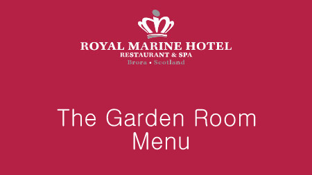 The Garden Room Menu is served between 9am and 7.30pm with snacks, salads, burgers and sandwiches from just £4.25.