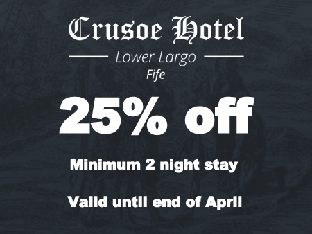 25% off accommodation up until the end of April based on 2 night B&B