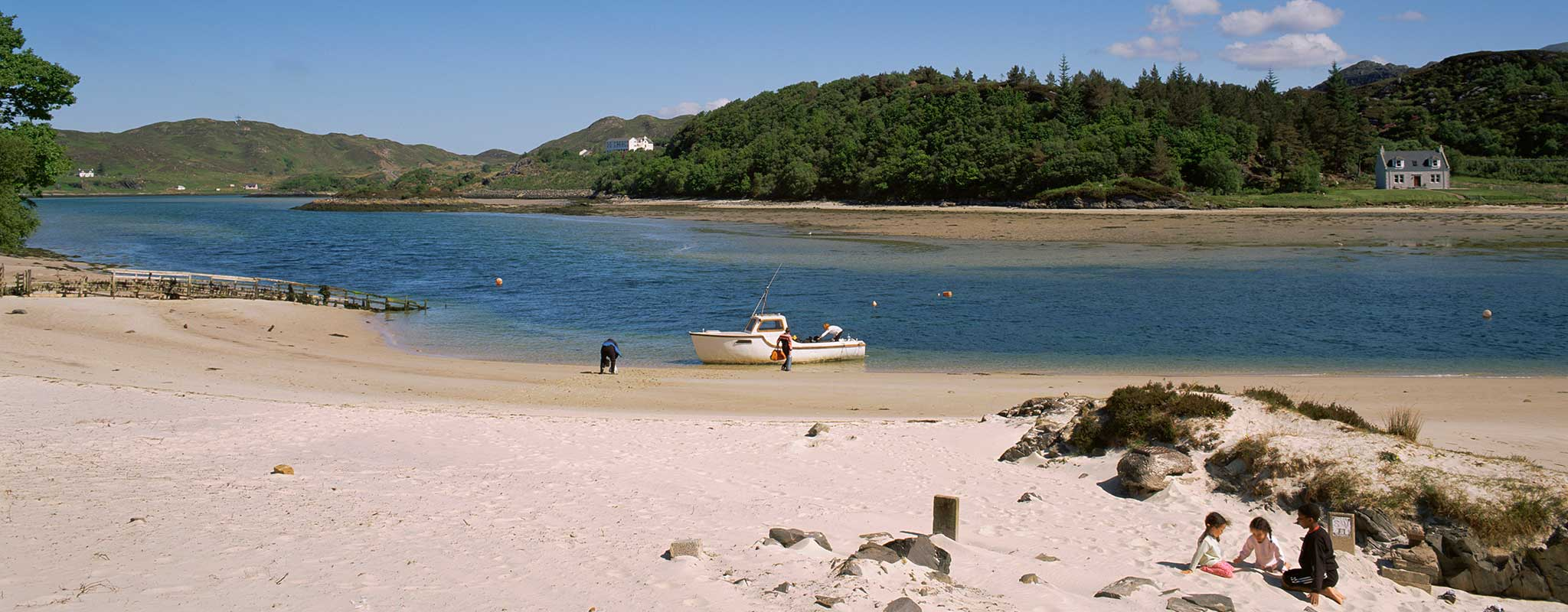 Morar River and sands